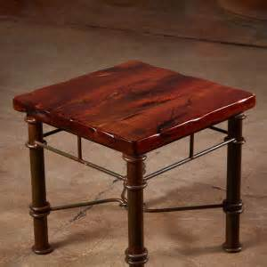 Hawkins Furniture by Mesquite End Table On An Iron Base
