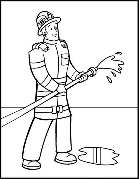 Free Printable Firefighter Coloring Pages For Kids Fireman Coloring Pages