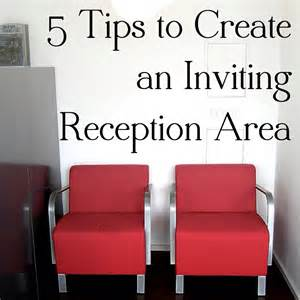 Small Space Decorating Blog - 5 tips for creating an inviting reception area in your clinic webpt