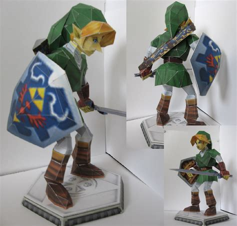 oot link papercraft by chartodileon on deviantart