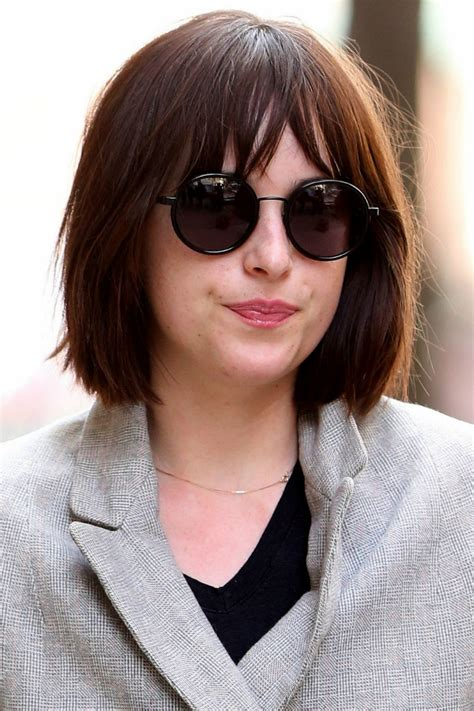 how to cut bangs like dakota johnson dakota johnson s new bob haircut celebrity beauty news