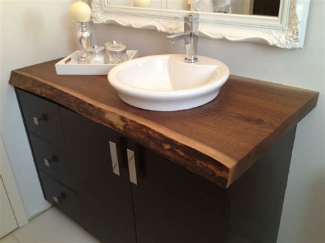 bathroom vanity tops ideas live edge black walnut bathroom countertop this would be
