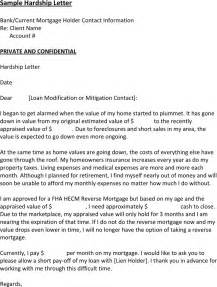 Insurance Hardship Letter Free Sle Hardship Letter For Loan Modification For Free Tidyform
