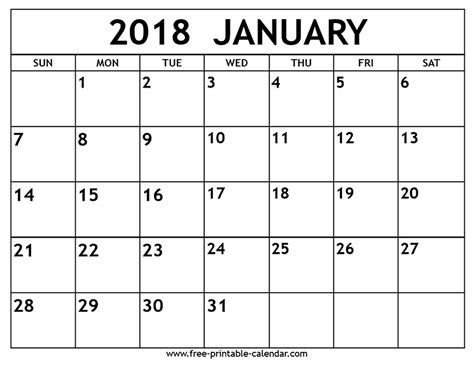 printable calendar pinterest january 2018 calendar print 2018 calendar pinterest