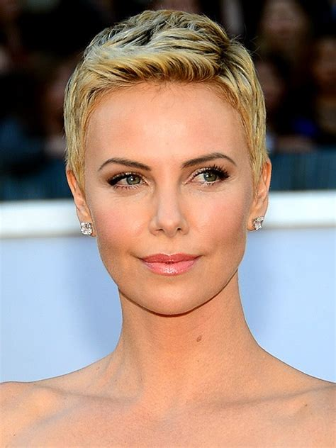 charlize theron short hair ? cable car couture