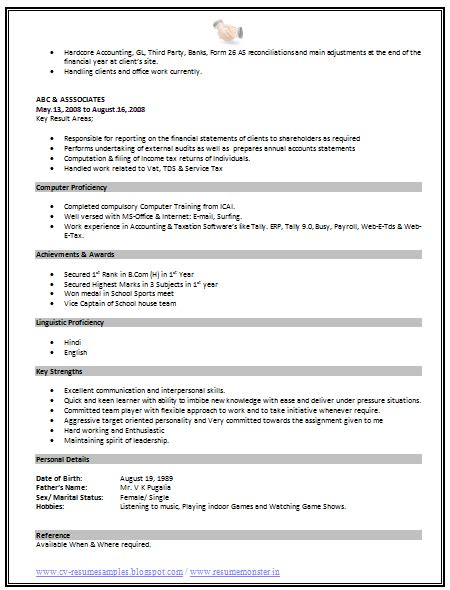 standard format of resume for experienced help with standard resume format for experienced best