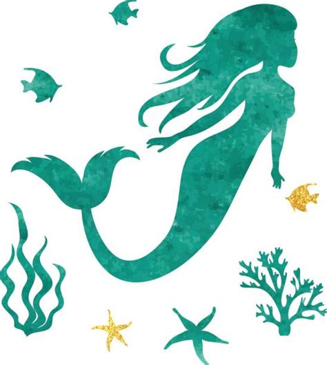 royalty free mermaid silhouette clip vector images