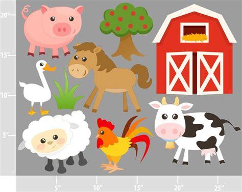 farm animal clipart farm animals digital clip personal and