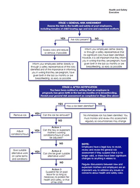 risk assessment workflow hse new and expectant mothers risk assessment