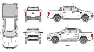 Mr Clipart Ford Ranger Wrap Template