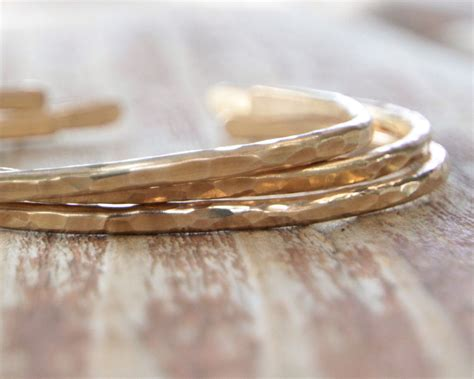 gold cuffs bridal party gift wedding jewelry