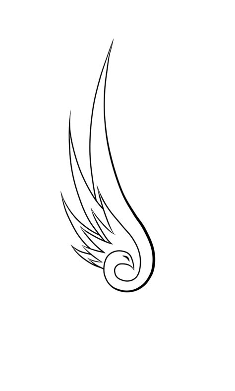 Simple Wing Outline by Simple Swan Outline Www Imgkid The Image Kid Has It