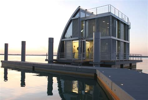 floating homes contemporary floating home in the lusatian lake district