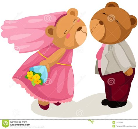 Teddy Wedding L teddy wedding stock photo image 21477350