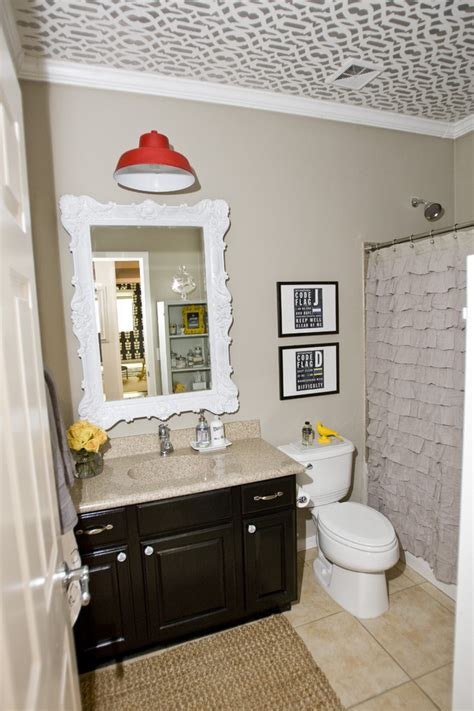 Next Bathroom Mirror Cool Ruffle Curtains In Traditional With Miller Furniture Ideas Next To Pink Walls