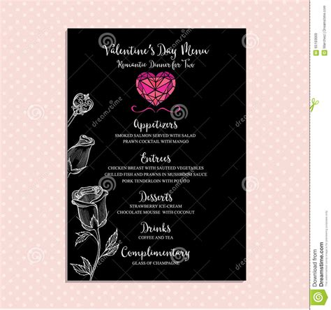 vector valentines day party invitation holiday stock
