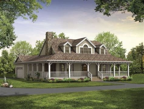 ranch style house with wrap around porch write
