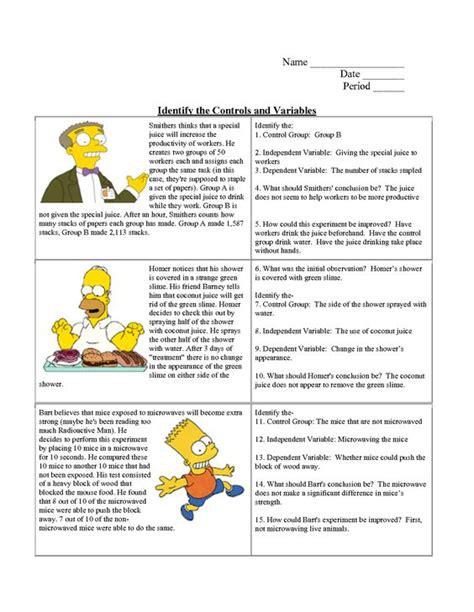 Scientific Method Worksheet Answers by Simpsons Scientific Method Worksheet Answers Worksheets