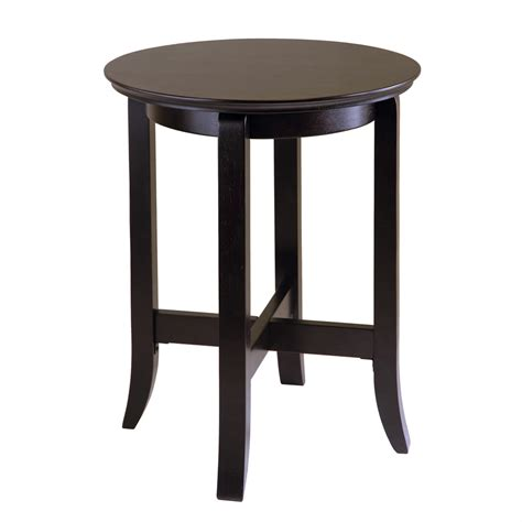 Espresso Side Table Shop Winsome Wood Espresso End Table At Lowes