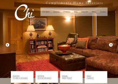 complements home interiors fresh web design created by bend oregon web agency