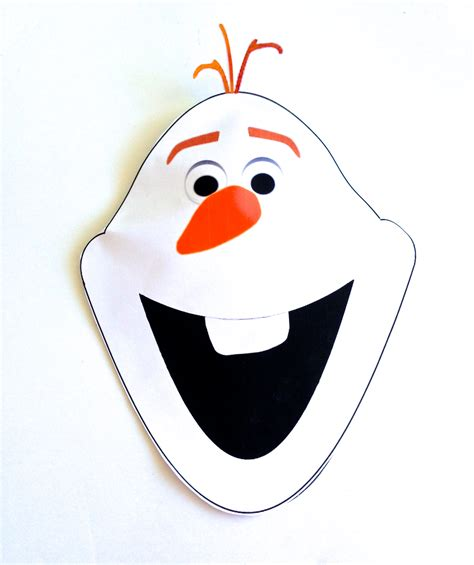 olaf printable mask template olaf face template www imgkid com the image kid has it