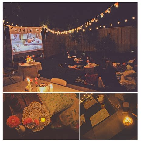 backyard movie party outdoor movie party movie red carpet party pinterest