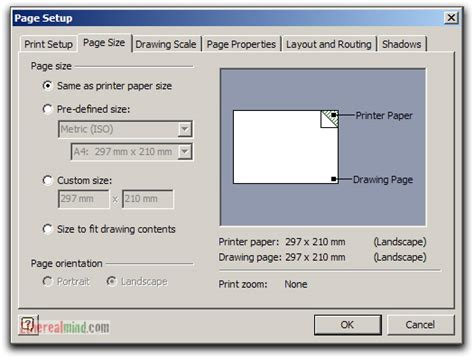 visio set page size network diagrams tips for printing from visio etherealmind