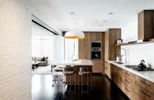 modern kitchen walls create a chic statement with a white brick wall