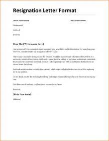 Resignation Letter In Word Format by Sle Format Resignation Letter Template In Word Resume Of Syntain