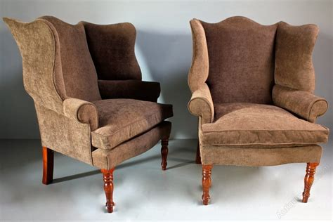 wing armchairs vintage pair of wing armchairs antiques atlas