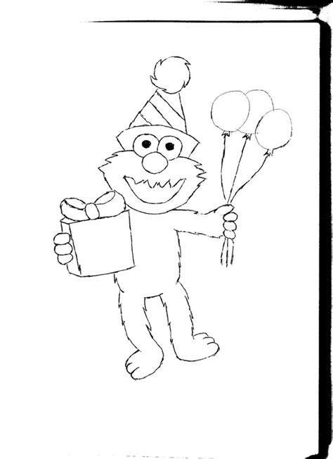 coloring pictures of baby elmo free printable elmo coloring pages for kids