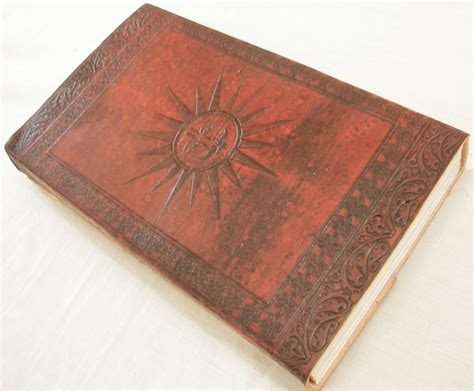 Handcrafted Journal - handcrafted sun embossed paper personalized
