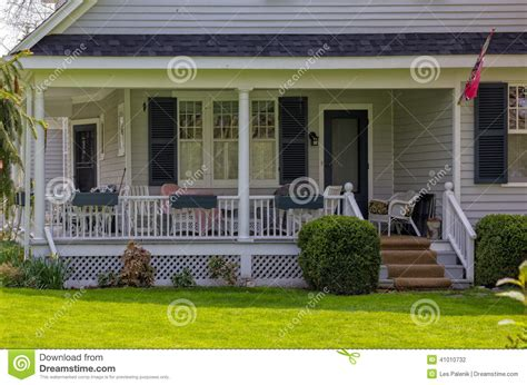 house with a porch house with a porch stock photo image 41010732