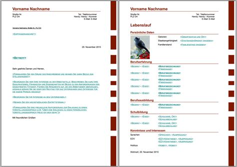 Bewerbungsschreiben Lebenslauf Agentur Für Arbeit Bewerbungsvorlagen F 252 R Libreoffice