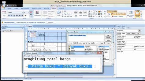 tutorial powerpoint dasar tutorial dasar microsoft access rumus perhitungan dalam