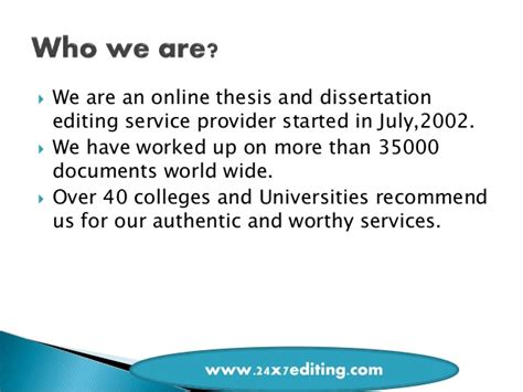 dissertation proofreading services dissertation editing services