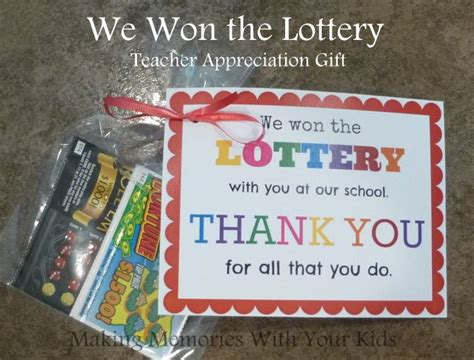 themes for american education week we won the lottery teacher appreciation gift with free