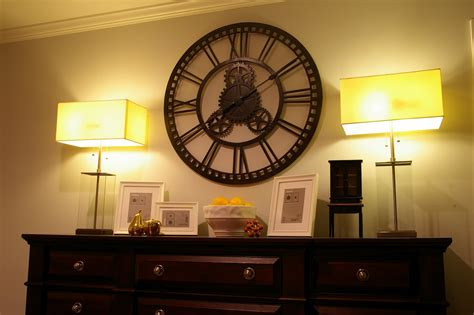 large wall clocks for living room myideasbedroom com mix and chic my master bedroom revealed