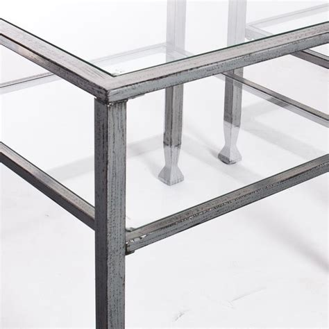 silver metal and glass coffee table southern enterprises metal glass coffee table in silver