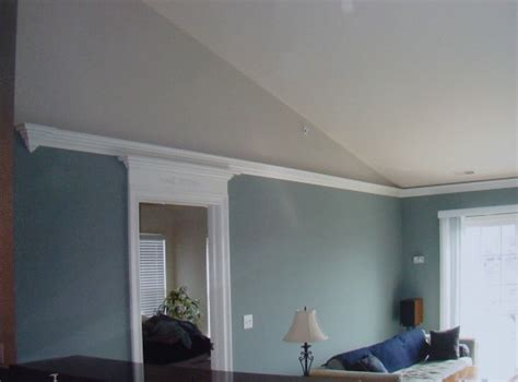 crown molding for vaulted ceiling how to terminate flying crown molding on this vaulted