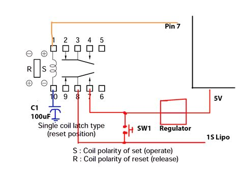 image gallery latching relay with reset