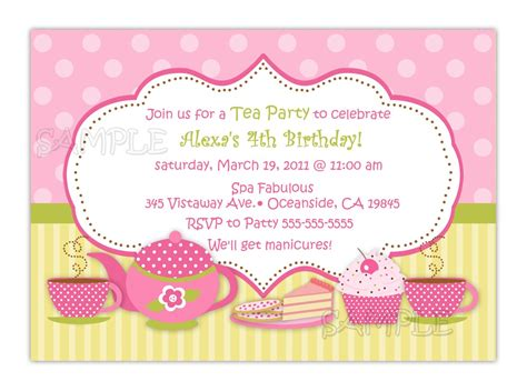 party invitations popular items tea party invites example