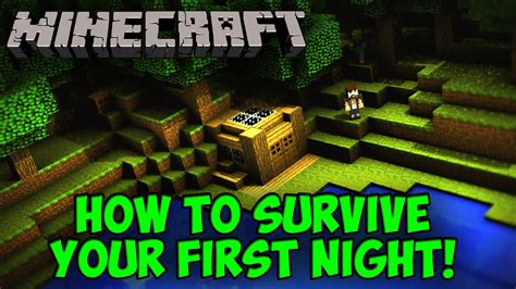 how to do first night minecraft how to survive your first night youtube