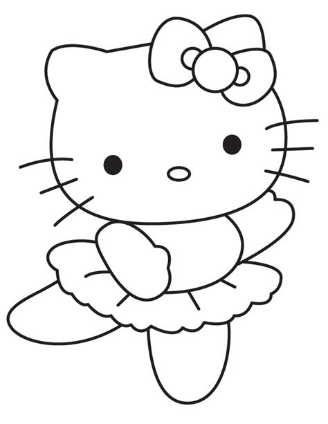 coloring page hello kitty ballerina hello kitty ballerina coloring pages