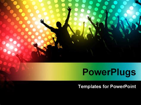 powerpoint template people dancing and partying with