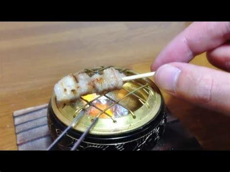 real food real food miniature cooking 26 yakitori 미니어쳐 닭 꼬치 요리