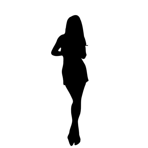 onlinelabels clip art woman silhouette 11