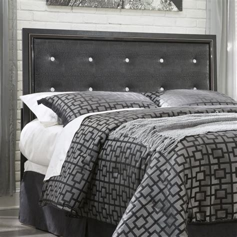 black faux leather headboard queen ashley alamadyre faux leather full queen headboard in