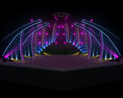 Diy Architecture Software Concert Stage 3d Model Cgtrader Com