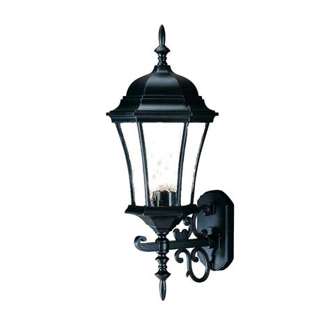 Outdoor Lighting Fixtures Wall Mount Acclaim Lighting Brynmawr Collection 3 Light Matte Black Outdoor Wall Mount Light Fixture 5025bk